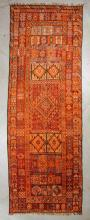 Semi-Antique Moroccan Rug: 5'6'' x 16'8'', 168 x 508 cm