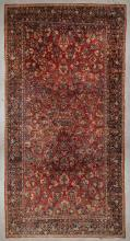 Antique Mansion-Size Sarouk Rug: 11'2'' x 21'3'' (340 x 648 cm)