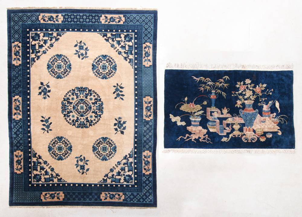 Two Chinese Peking Rugs, Mid/Late 20th C.