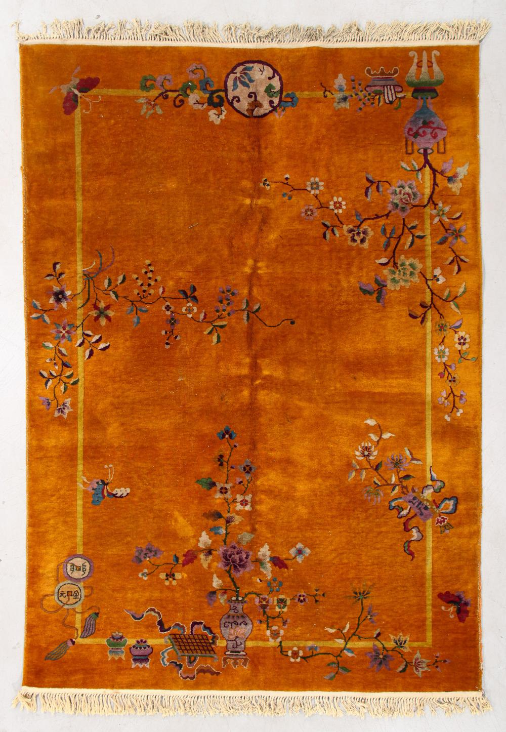 Chinese Art Deco Rug, Early 20th C., 5'11'' x 8'7''