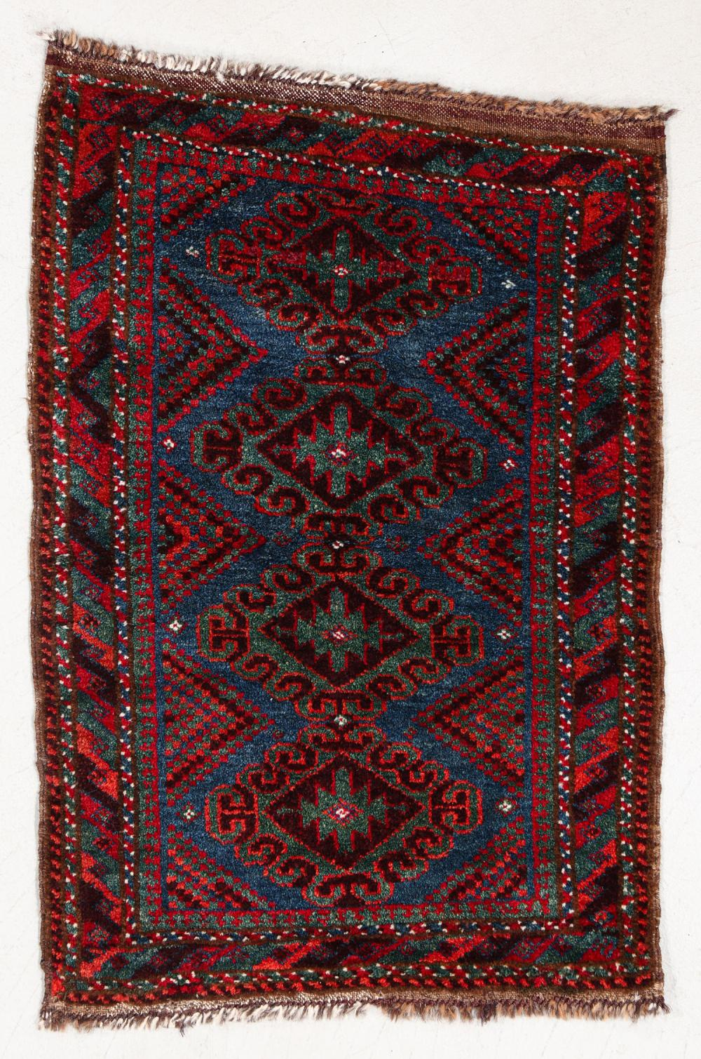 Beluch Small Rug, Afghanistan, Circa 1880, 1'10'' x 2'7''