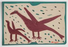 Mose Tolliver (American/Alabama 1925-2006) Two Birds