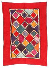 Antique Central Asian Bokhara Applique Quilt
