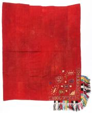 Antique Lakai Wool and Silk Dowry Embroidery