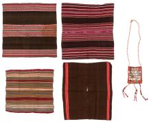 Collection of Five Antique Bolivian Textile Weavings
