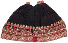 3 Vintage Finely Embroidered Skirts, Gujarat, India