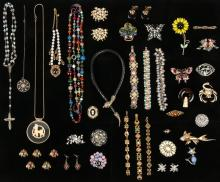Lot Vintage Costume Jewelry, including Florenza and  Coro