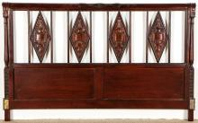 Continental Carved Wood Headboard