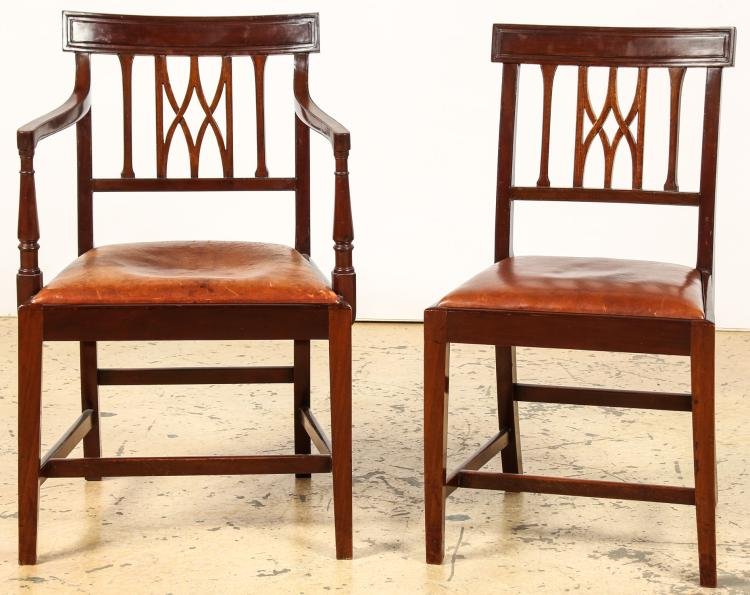 Dining room suite of table and chairs for Dining room furniture auctions