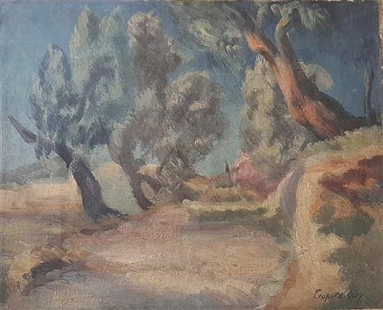 Leopold Levi 1882- 1966 (French) Paysage de Provence, 1930's oil on canvas