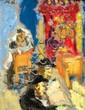 **Mane Katz 1894-1962 (Russian, French) Biet Hamidrash oil on board