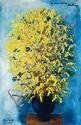 **Moise Kisling 1891-1953 (Polish) Bouquet de Mimosas, 1945 oil on canvas