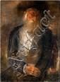 Reuven Rubin 1893-1974 (Israeli) Rabbi, 1930's oil on canvas