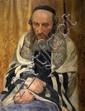 Michael Gilbery 1913-2000 (British) The rabbi oil on panel
