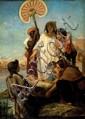 Felix Josefh Barrias 1822-1907 (France) Moןse sauvי des eaux, 1878 oil on canvas