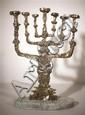 Salvador Dali 1904-1989 (Spanish) The menorah, 1980 bronze with patina