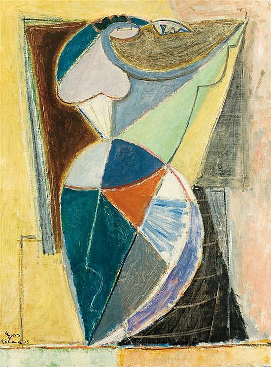 Aharon Kahana 1905-1967 (Israeli) Dancer, 1948 oil on canvas