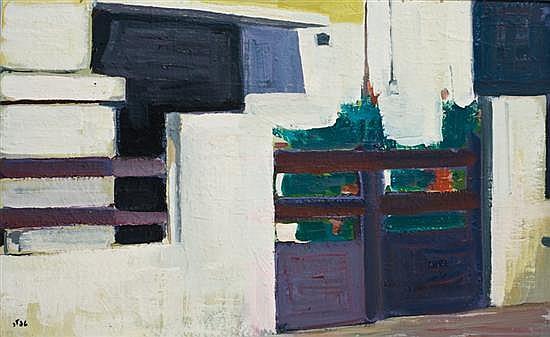 Shmuel Tepler 1918-1998 (Israeli) Neve Tsedek oil on canvas