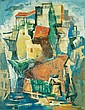 Yaacov Eisenscher 1896-1980 (Israeli) Jerusalem oil on canvas, Yaacov Eisenscher, Click for value