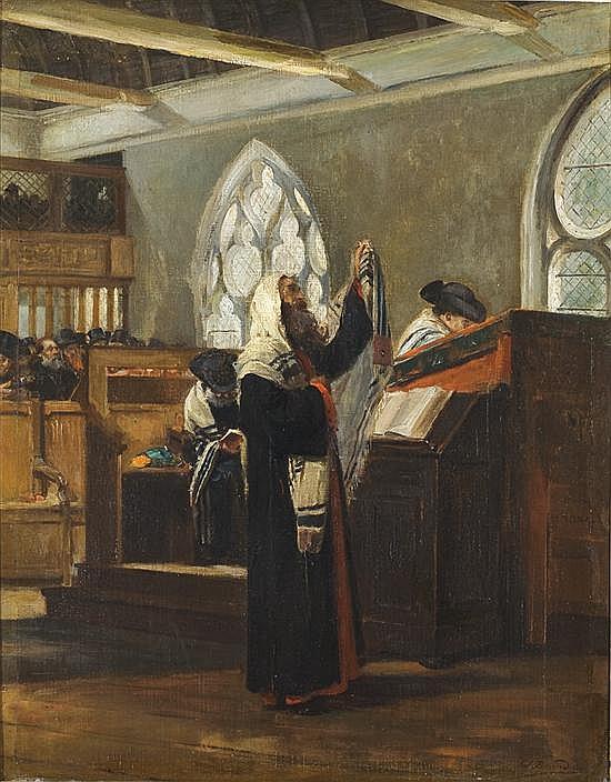 Edouard Brandon 1827-1897 Prayer
