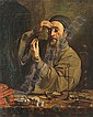 Auguste Charpentier 1813-1880 (French) The Jewish money lender, 1842 oil on canvas, Auguste Charpentier, Click for value