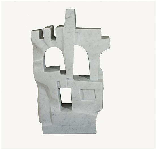 Dani Kafri b. 1945 (Israeli) Jerusalem, 2008 carrara marble, unique piece