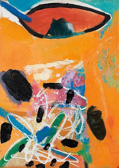 Lea Nikel 1918-2005 (Israeli) Untitled, 1970 oil on canvas