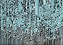Yehudit Sasportas b.1969 (Israeli) Untitled - Winter forest, 2002 graphite, ink and marker on mdf