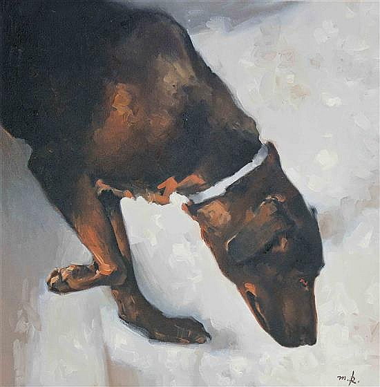 Michael Rapoport b. 1948 (Israeli) Dog, 2012 oil on canvas