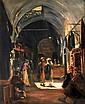 **Ludwig Blum 1891-1975 (Israeli) Market scene, 1949 oil on canvas