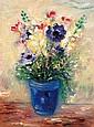 Reuven Rubin 1893-1974 (Israeli) Flower fantasy, 1940's oil on canvas