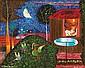 **Yohanan Simon 1905-1976 (Israeli) Hot summer night, 1965 oil on canvas