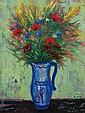 **Reuven Rubin 1893-1974 (Israeli) Flower in a vase, 1952 oil on canvas