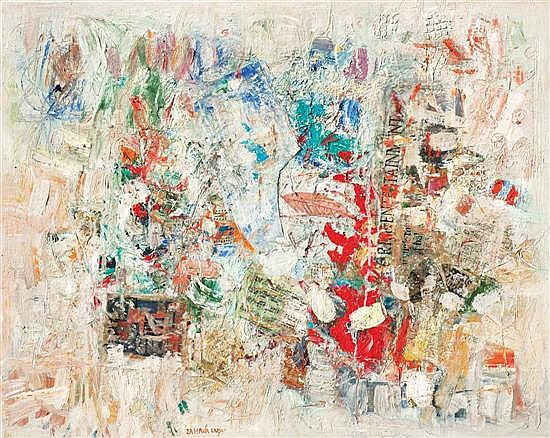 Zahava Lupu b. 1948 (Israeli) Etude in color, 2013 oil and mixed media on canvas