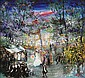 Huvy b.1927 (Israeli) Wedding oil on board, Elisha (Huvy} Ahuva, Click for value