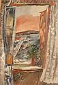 Jean Pougny 1894-1956 (Russian) La fenךtre ouverte, Cפte d'Azur, 1926-27 gouache on paper