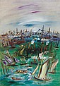 **Jean Dufy 1888-1964 (French) Le bassin de la Manche au Havre oil on canvas