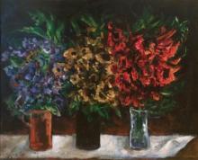 Yosl Bergner 1920-2017 (Israeli) Three bunches oil on canvas