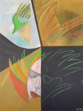 Dan Kedar 1929-2008 (Israeli) Hermayus, 1989 oil on canvas