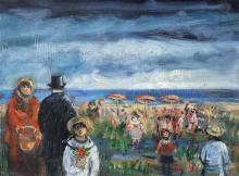 Yosl Bergner 1920-2017 (Israeli) Early days in Tel Aviv, 2010 oil on canvas