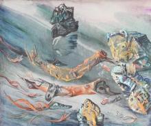 Greta Wolf Krakauer 1890-1970 (Austrian, Israeli) Untitled, 1960 oil on canvas