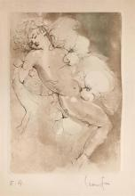 Leonor Fini 1908-1996 (French) Sleeping boy etching and aquatint