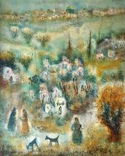 Albert Goldman b. 1922 (Israeli) Jerusalem oil on canvas