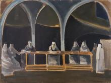 Alfred Aberdam 1894-1963 (Ukrainian) Biblical subject, 1948-50 oil on board