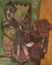 Leo Roth 1914-2002 (Israeli) Family oil on canvas