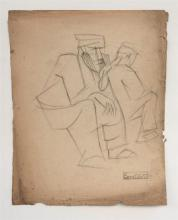 Joseph Constant Constantinovsky 1892-1969 (Russian, French, Israeli) Figure, 1920's pencil on paper