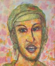 Arie Kaplun 1909-1995 (Israeli) Yeshive Bocher oil on board
