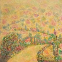 Arie Kaplun 1909-1995 (Israeli) Landscape oil on canvas