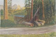 A. Dupont In the woods oil on canvas