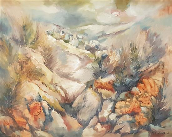 Hava Intrator-Barak b.1941 (Israeli) Landscape oil on canvas